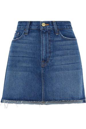 FRAME Women Mini Skirts - Woman Le Mini Frayed Denim Mini Skirt Mid Denim Size 24