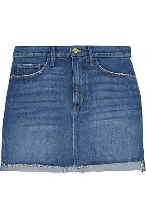 FRAME Women Mini Skirts - Woman Le Mini Frayed Denim Mini Skirt Mid Denim Size 23