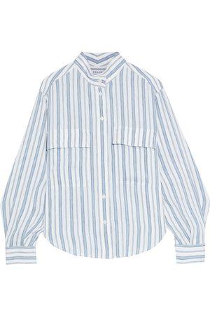 Frame Women Long sleeves - Woman Clean Safari Striped Linen-blend Shirt Size L
