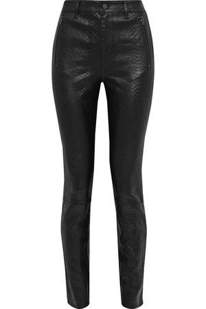 J Brand Woman Lora Snake-effect Leather Skinny Pants Size 27