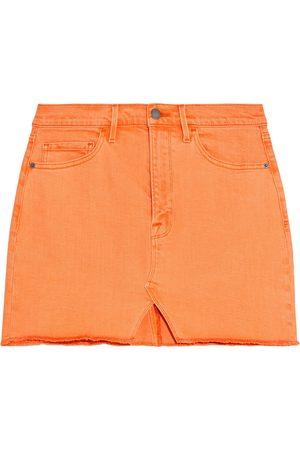 FRAME Women Mini Skirts - Woman Le Mini Frayed Denim Mini Skirt Size 24