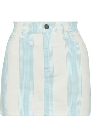 Frame Woman Le Mini Striped Denim Mini Skirt Sky Size 24