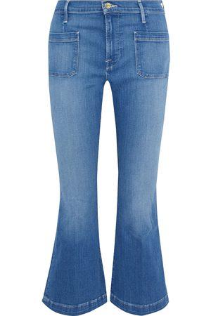 Frame Woman Le Bardot Crop Flare High-rise Kick-flare Jeans Mid Denim Size 23
