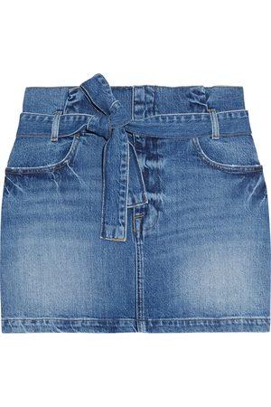 Frame Women Mini Skirts - Woman Belted Denim Mini Skirt Mid Denim Size 23