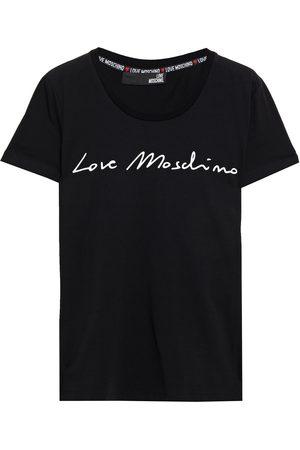 Love Moschino Woman Printed Stretch-cotton Jersey T-shirt Size 38