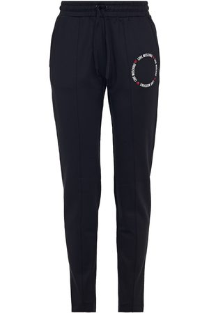 Love Moschino Women Sweatpants - Woman Glittered Printed Stretch-jersey Track Pants Size 38