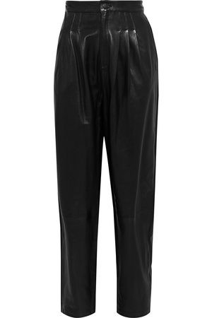 J Brand Women Leather Pants - Woman Nila Pleated Leather Tapered Pants Size 26
