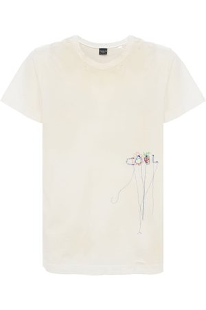 COOL Vintage Distressed & Embroidered T-shirt