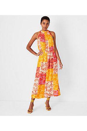 ANN TAYLOR Patchwork Floral Maxi Dress