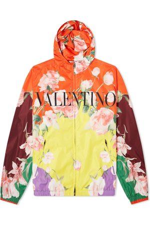 VALENTINO Men Sports Jackets - Floral Logo Windbreaker
