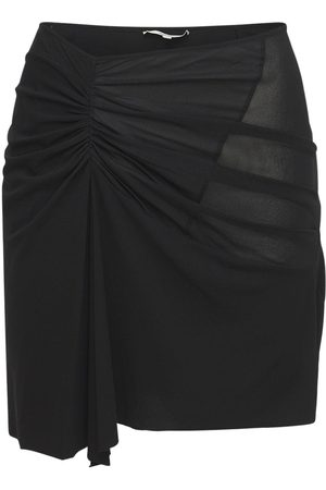 Nensi Dojaka Women Mini Skirts - Asymmetric Viscose Stretch Mini Skirt