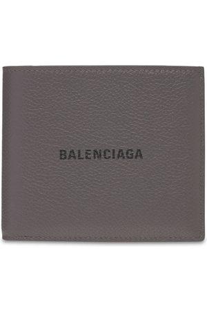 Balenciaga Logo Print Leather Billfold Wallet
