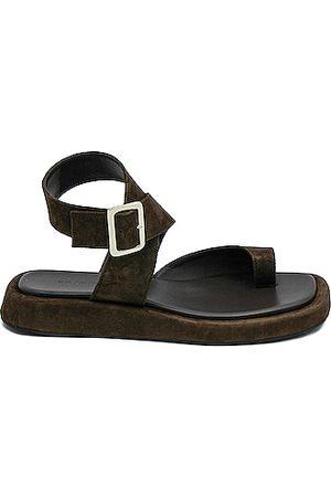 GIA/RHW Flat Toe Ring Wrap Suede Sandal in