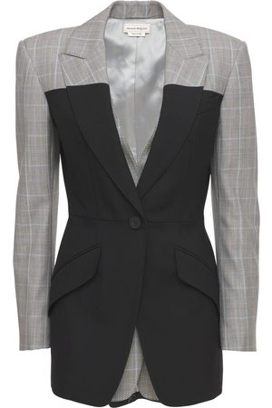 Alexander McQueen Tailored Wool Prince Of Wales Blazer