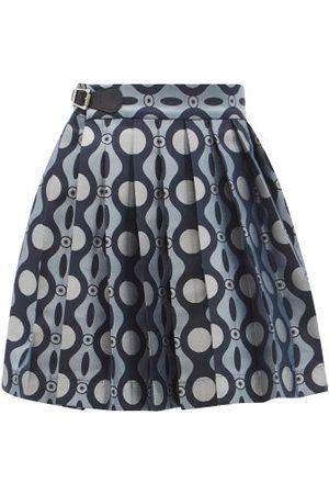 Charles Jeffrey Loverboy Caterpillar-jacquard Pleated Mini Kilt Skirt - Womens