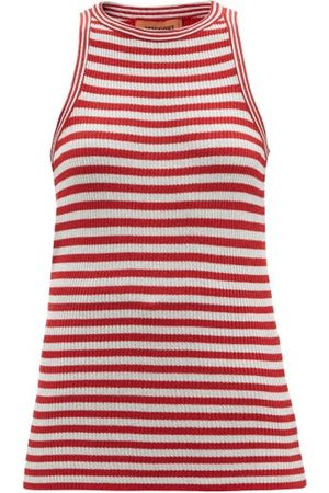 Missoni Striped Sleeveless Metallic-jersey Top - Womens