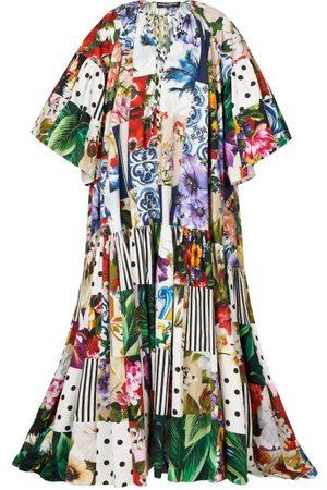 Dolce & Gabbana Patchwork Printed Cotton-poplin Maxi Dress - Womens - Multi