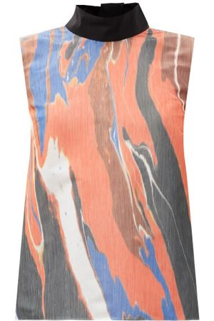 Roksanda Women Tops - Flotta Abstract-print Taffeta Top - Womens - Multi