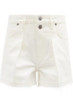 Frame Women Shorts - Mosaic Frayed Denim Shorts - Womens