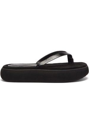 OSOI Women Flip Flops - Boat Leather Platform Flip Flops - Womens