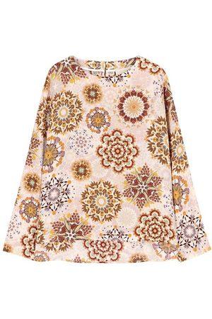 Momoni Monza blouse in printed crepe de chine