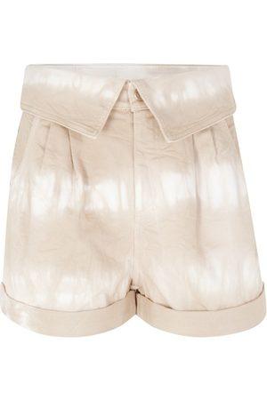 Stella McCartney Women Shorts - Bamboo Safari tie-dye shorts