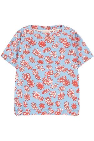 MOMONÍ Roma blouse in printed twill