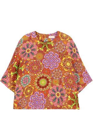 MOMONÍ Como blouse in printed crepe de chine
