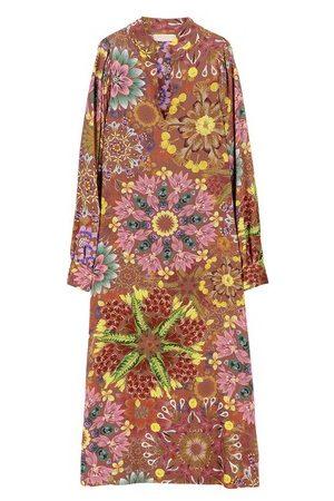 MOMONÍ Bologna dress in printed crepe de chine