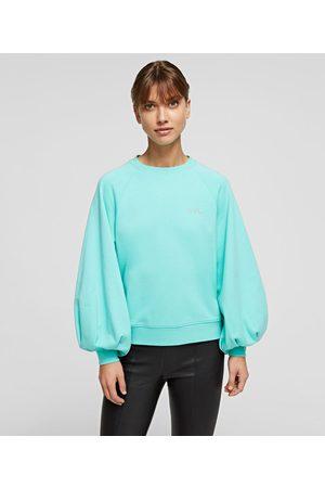 Karl Lagerfeld Women Sweatshirts - BALLOON-SLEEVE KARL FUTURE SWEATSHIRT