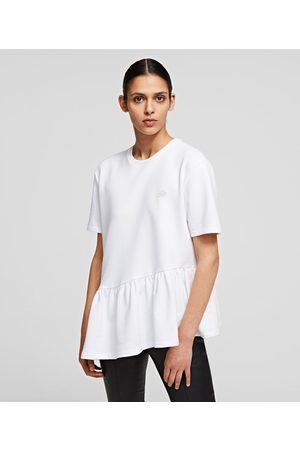 Karl Lagerfeld Women Sweatshirts - SHORT-SLEEVED PEPLUM SWEATSHIRT
