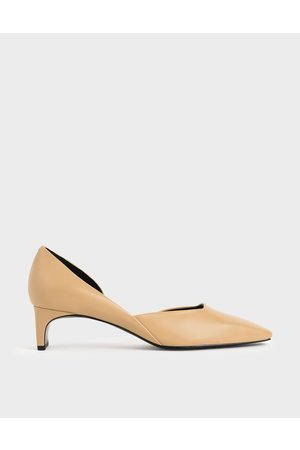 CHARLES & KEITH Women Heeled Pumps - Square Toe D'Orsay Court Shoes