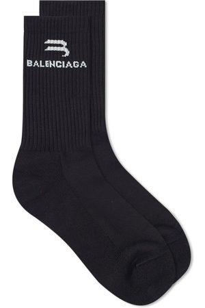 Balenciaga Men Socks - New Logo Sock