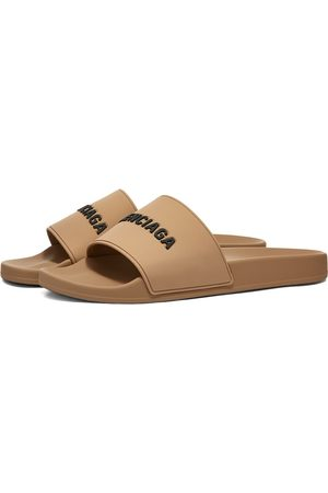 Balenciaga Men Sandals - Logo Pool Slide