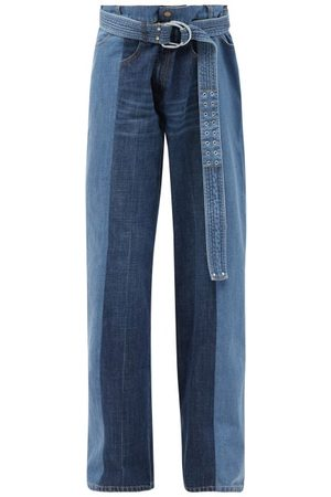 La Fetiche Women Wide Leg - Marsha Panelled Upcycled Wide-leg Jeans - Womens - Denim