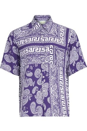 ARIES Men Short sleeves - Bandana print hawaiian shirt