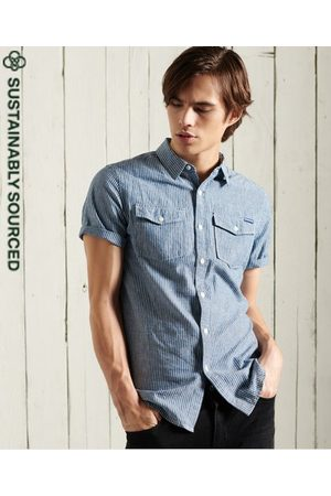 Superdry Men Short sleeves - Short Sleeve Denim Loom Shirt