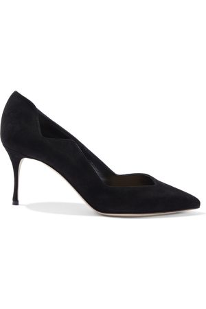 Sergio Rossi Woman Scalloped Suede Pumps Size 36