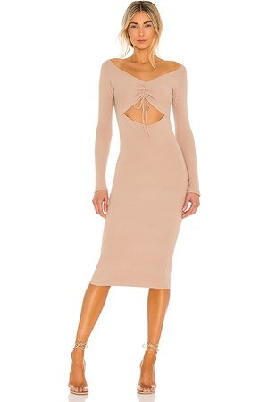 Lovers + Friends Lovers and Friends Aphra Dress in Nude.