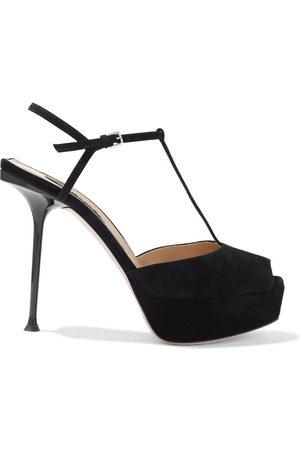 Sergio Rossi Woman Suede Platform Sandals Size 36