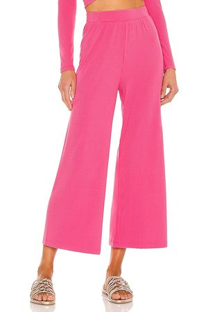 L*SPACE Women Wide Leg Pants - Charlie Pant in Pink.
