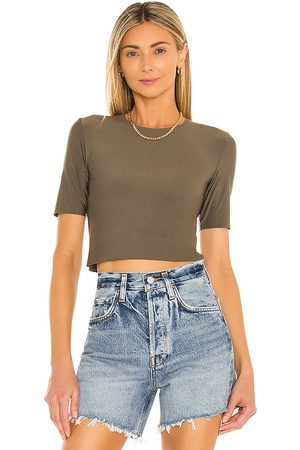Commando Women T-shirts - Butter Cropped Tee in Army.