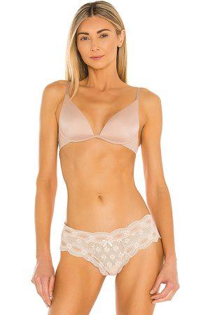 Calvin Klein Underwear Lightly Lined Plunge Bra in Nude.
