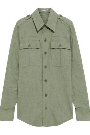 Stella McCartney Woman Hill Brushed-cotton Shirt Sage Size 40