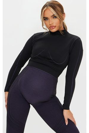 PRETTYLITTLETHING Maternity Sport Long Sleeve Seamless Top