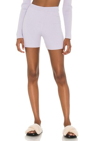 Song of Style Lila Knit Biker Shorts in Lavender.