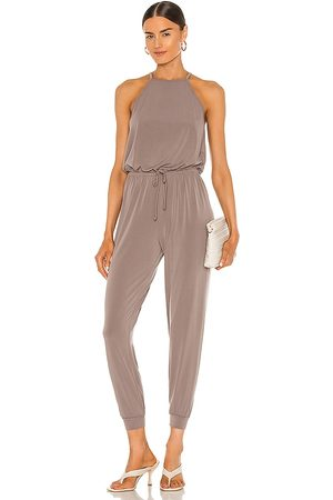 Lanston Halter Jumpsuit in Taupe.