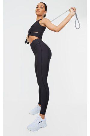 PRETTYLITTLETHING Ribbed Textured Seam Detail Gym Leggings