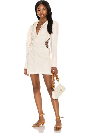 Song of Style Georgie Mini Dress in Ivory.