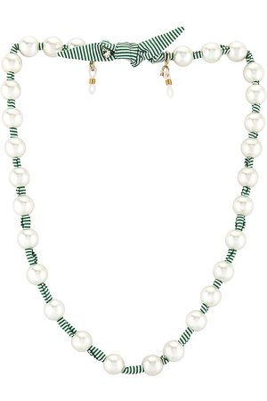 Lele Sadoughi Pearl Skinny Scarf Necklace in .